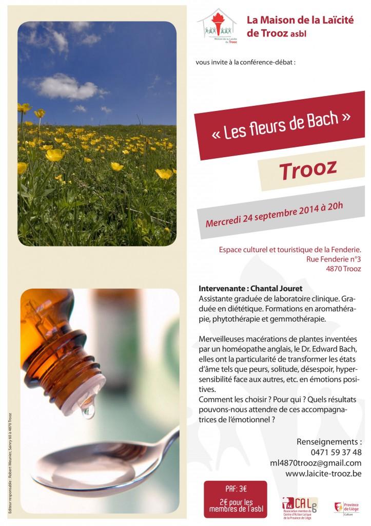 conférence conférence fleurs de Bach