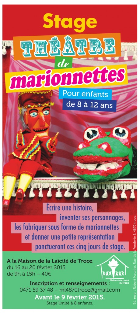 Stage théâtre de marionnettes